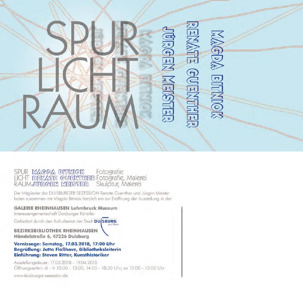 Spur – Licht – Raum
