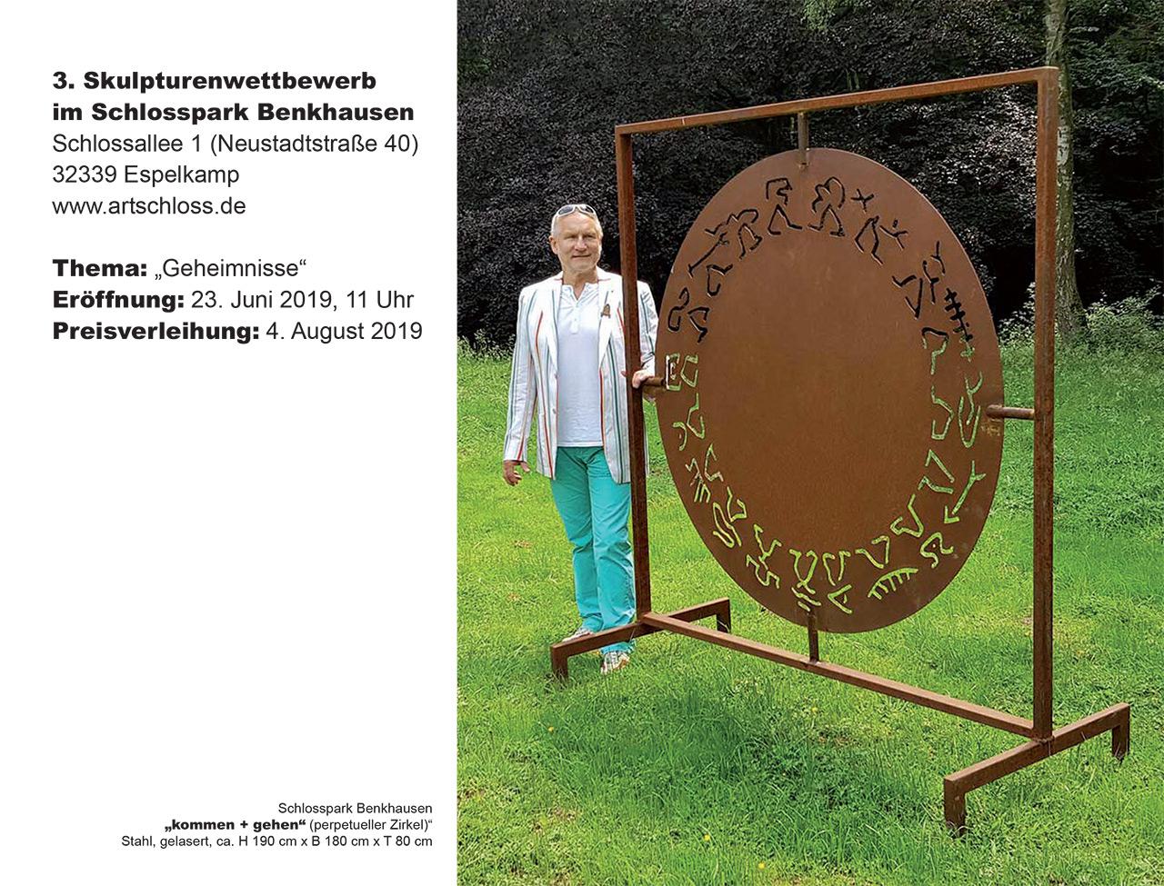 3. Skulpturenwettbewerb im Schlosspark Benkhausen