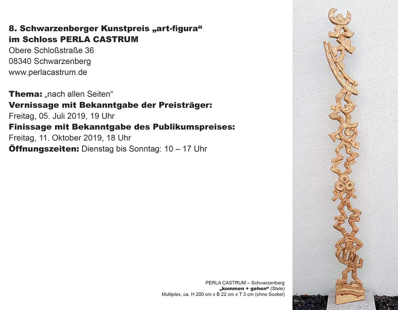 """8. Schwarzenberger Kunstpreis """"art-figura"""" im Schloss PERLA CASTRUM"""