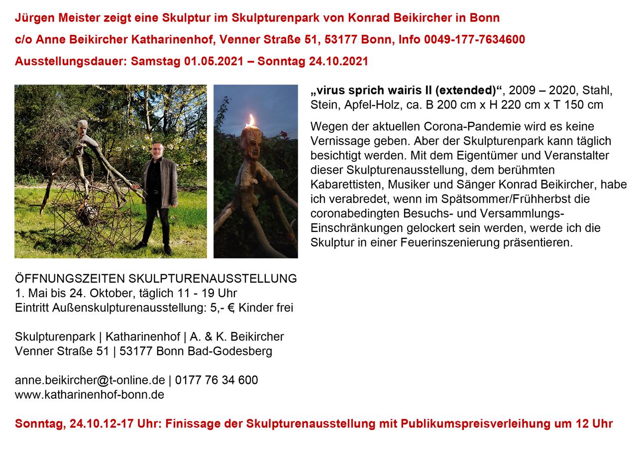 """""""virus sprich wairis II (extended)"""" im Skulpturenpark"""